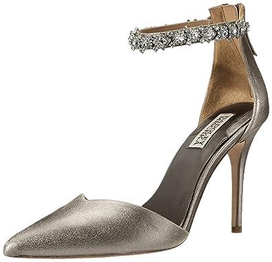Womens Shoes Badgley Mischka Flash II Pewter Metallic Suede