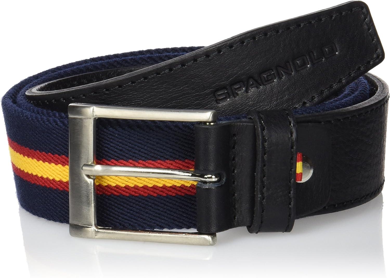 Spagnolo Cinturon Lona Elastica 1692 Complemento, AZUL MARINO, ROJO Y AMARILLO, 85 para Hombre: Amazon.es: Ropa y accesorios