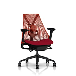 Herman Miller Sayl Task Chair: Crepe Cherry with Tilt Limiter & Seat Angle Adjustment