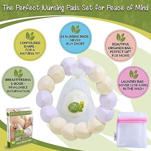 M&Y Contoured Organic Nursing Pads for Breastfeeding