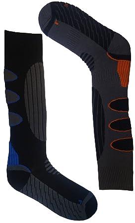 1/2 Par de calcetines ergonómico Calcetines de esquí/snowboard para hombre y mujer