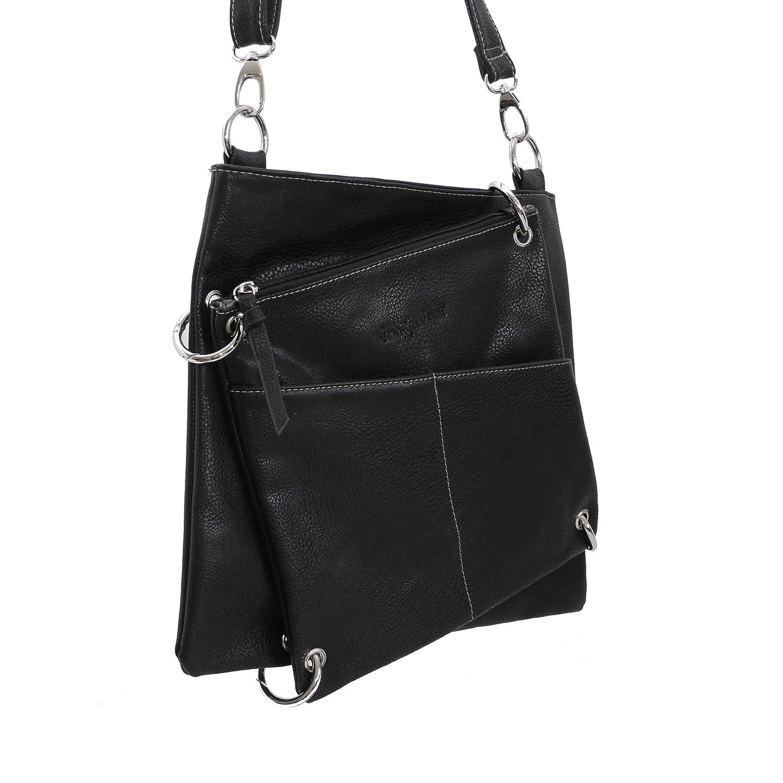 539eff1ca64faf Handtasche Shoppertasche Schultertasche - - präsentiert von ZMOKA® Grau 2  in 1 Umhängetasche von Jennifer Jones Damen-Tasche