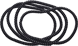 chubuddy Spiralz Black Chewable Fidget Set of 4 Necklaces Black - Calming for Autism, ADHD, Sensory Processing, Special Needs, Anxiety, Fidgeting
