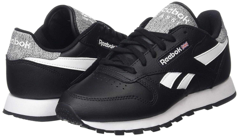 Reebok Classic Leather Pop, Zapatillas para Hombre, Negro (Black/White), 36 EU: Amazon.es: Zapatos y complementos