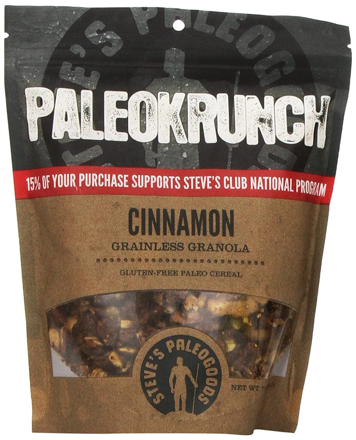 Amazon.com: Steve\'s PaleoGoods, PaleoKrunch Cereal Cinnamon, 7.5oz: