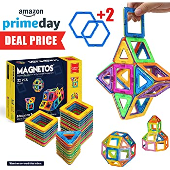 amazon com magnetos magnetic blocks building set for kids 30 2 pcs