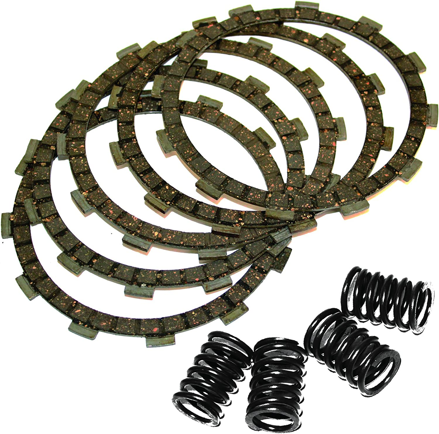 Caltric Clutch Friction Plates /& Springs Compatible with Kawasaki Klf300 Klf-300 Bayou 300 4X4 1989-1997