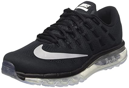 NIKE Men's Air Max 2016 Running Shoe Black/White/Dark Grey Size 10.5 M