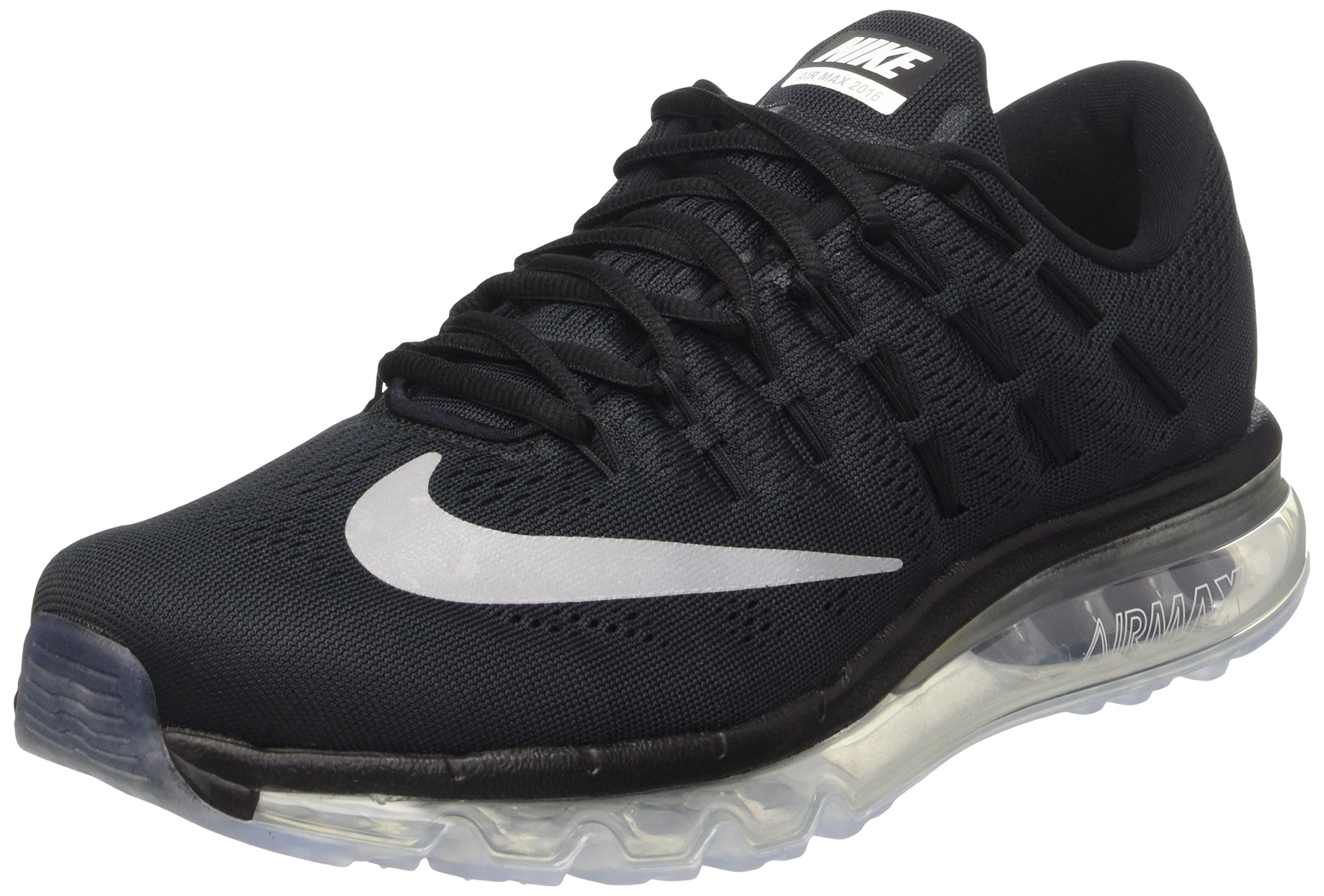 quality design f0a0d f8a5f Galleon - Nike Men s Air Max 2016 Running Shoe Black White Dark Grey Size  10 M US