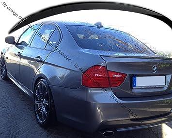 für BMW E90 tuning CARBON Spoiler Heck Abrisskante Performance Stil Lippe Levre