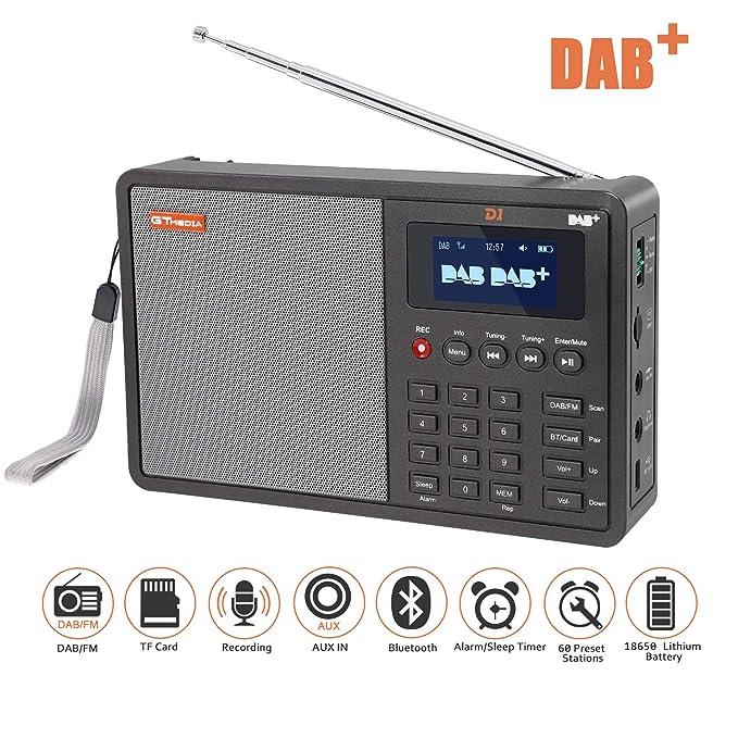 Dab Radio Empfang Karte.Dab Radios Savori 1 8 Lcd Display Tragbare Fm Dab Radio Support Tf Karte Support Upgrade Rds Aufnahmefunktion über 90 Voreingestellte Sender