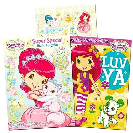 Amazon Com Strawberry Shortcake Coloring Book Super Set 2 Jumbo