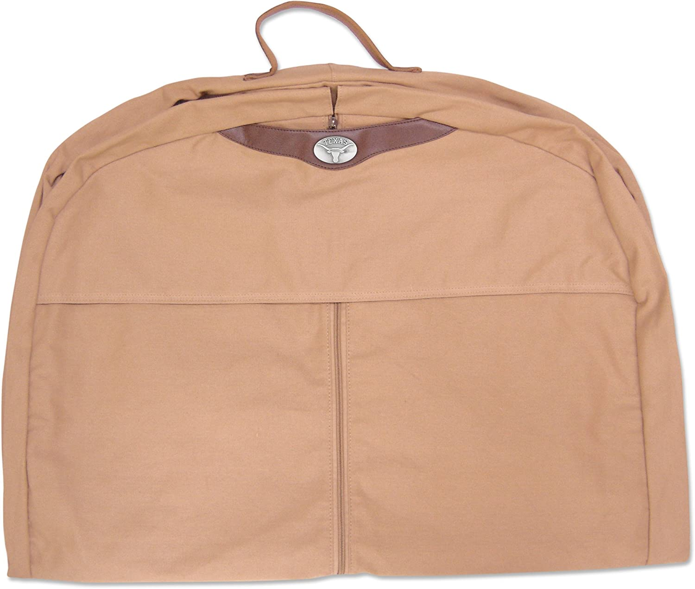 One Size Khaki NCAA Texas Longhorns Mens Canvas Concho Garment Bag