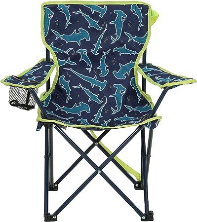 Mountain Warehouse Silla Plegable Mini con Estampado para niños - Sillas de Camping con reposabrazos y reposacabezas para niños - para Picnic, la Playa, el jardín Azul Oscuro Talla única: Amazon.es: Deportes