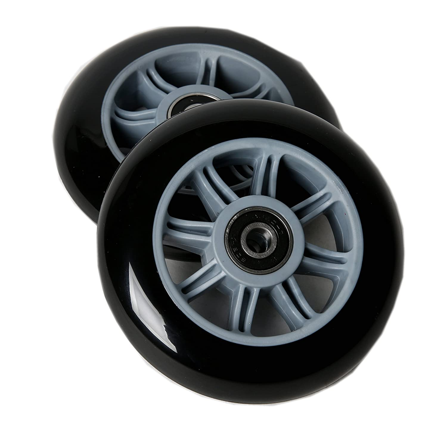 FREEDARE Scooter Wheels 100mm for Scooter Replacement Wheels with Bearings Pack of 2