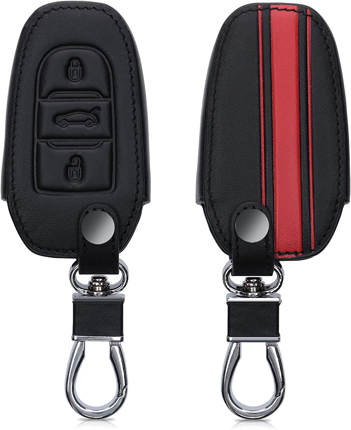 kwmobile Key Cover Compatible with Peugeot Citroen Rally Stripe