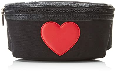 f559d1d06de Amazon.com: LOVE Moschino Women's Canvas Belt Bag Black One Size: Shoes