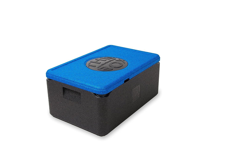 *7er Paket* - THE BOX Thermobox GN 1/1 groß, Art. 79885; blau, Außenmaß 60 x 40 x 27,5 cm, Innenmaß 54 x 34 x 21 cm, Nutzhöhe 21 cm, 38 l.