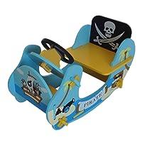 bebe Style per bambini pirata Rocker Ride on Boat, 69x 34x 44cm