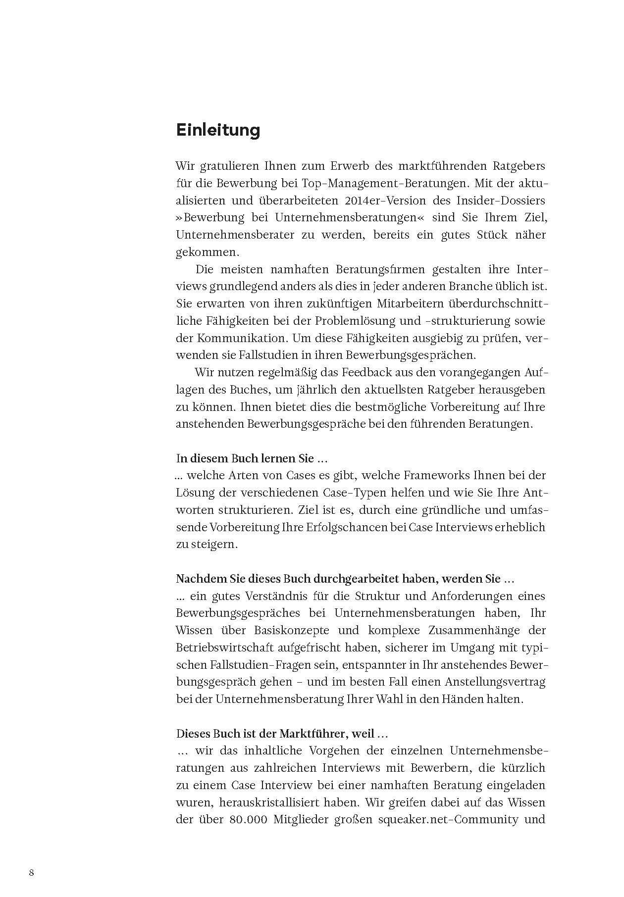 Das Insider-Dossier: Bewerbung bei Unternehmensberatungen ...
