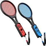Tennis Racket for Nintendo Switch (2 Pack) by TalkWorks | Joy Con Controller Grip Sports Game Accessories for Mario Tennis Ac