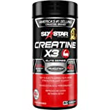 Six Star Pro Nutrition Creatine X3 Pills, Micronized Creatine Capsules Featuring Ultra-Pure Creatine Monohydrate, 60 Caplets