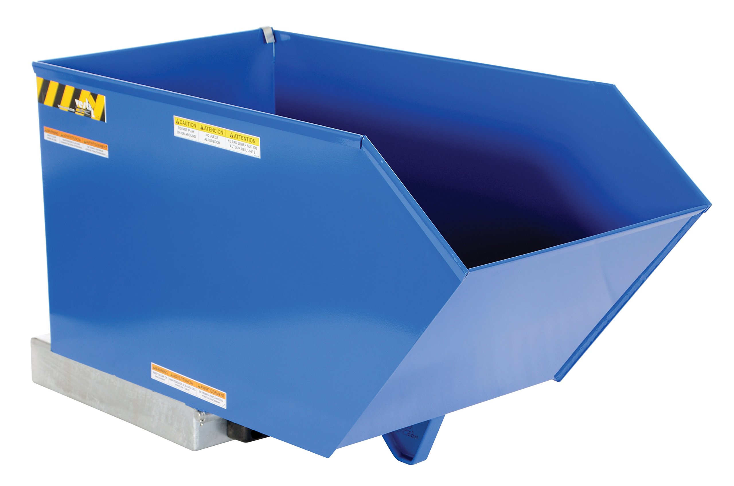 Vestil H-50-HD Low Profile Heavy Duty 90 Degree Self-Dumping Hopper, Steel, 6000 lbs Capacity, Overall W x L x H (in.) 27 x 51-1/4 x 28-3/16, Front Lip to Floor (in.) 20-5/8