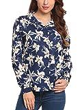 Zeagoo Women's Long Sleeve Casual Polka Dot Button up Office Blouse Shirt Top