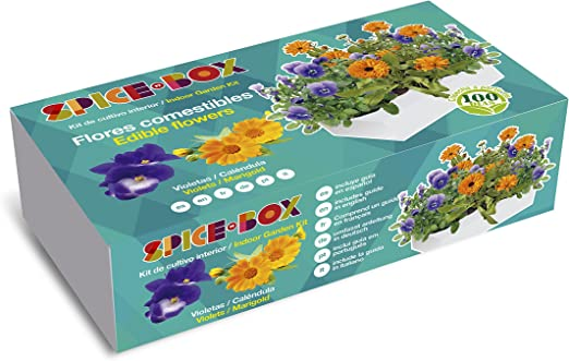 SeedBox PGSPFC Spicebox Flores comestibles, 9x5x23 cm: Amazon.es ...