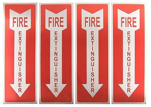 Amazon.com: Señales de extintor de incendios – Paquete de 4 ...