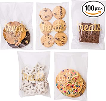 peel N seal wink smiley cello cellophane cookie candy treat bags party birthday