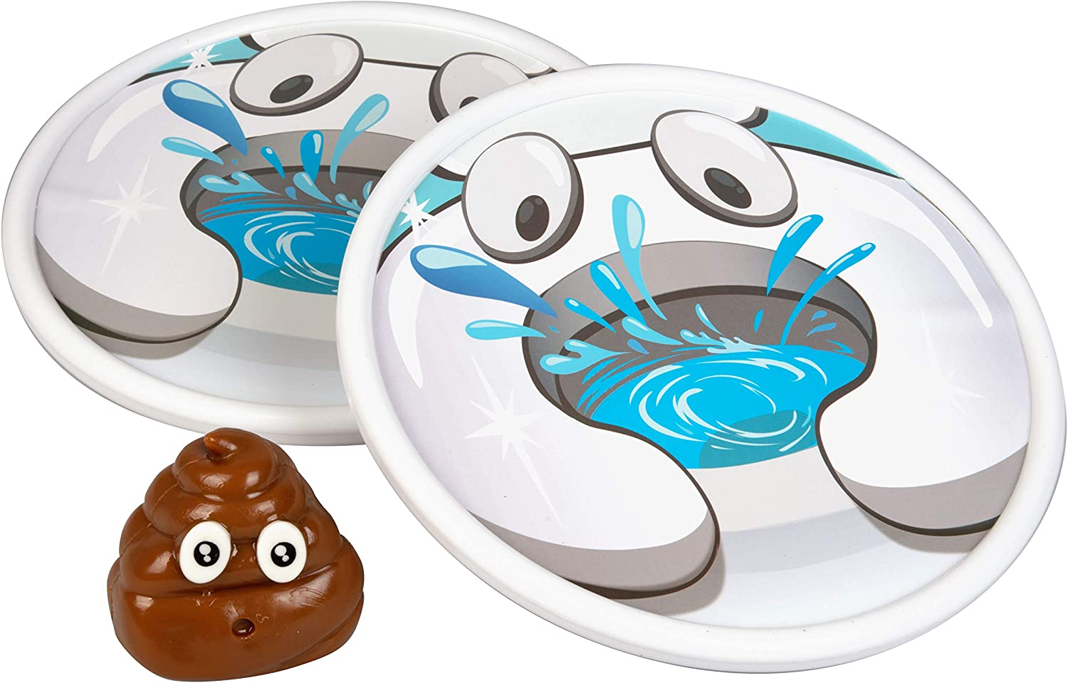 Amazon Com Hog Wild Sticky The Poo Toss And Catch Poo Emoji Sticky Ball And 2 Toilet Catcher Targets Ages 4 Toys Games