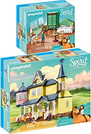 Playmobil Spirit 2pcs Set 9475 9476 Lucky S Happy Home
