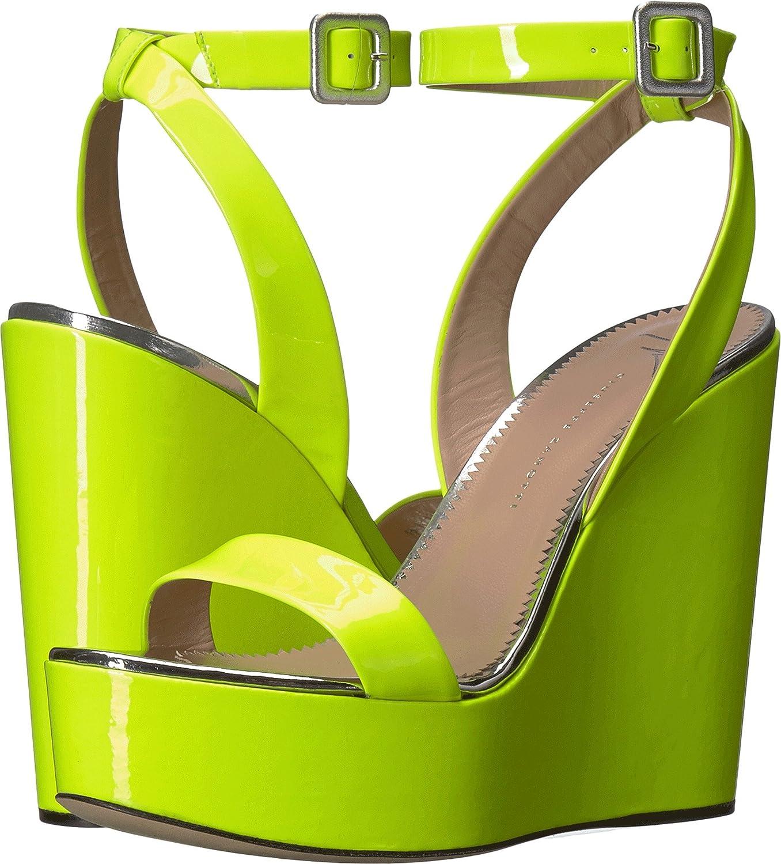 Giuseppe Zanotti Women's E800064 Wedge Sandal B077QK9WTD 36 M EU|Ver Fluo Giallo