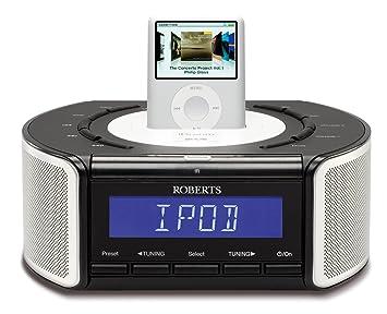 roberts idream crd42 dab fm stereo clock radio with dock for ipod rh amazon co uk