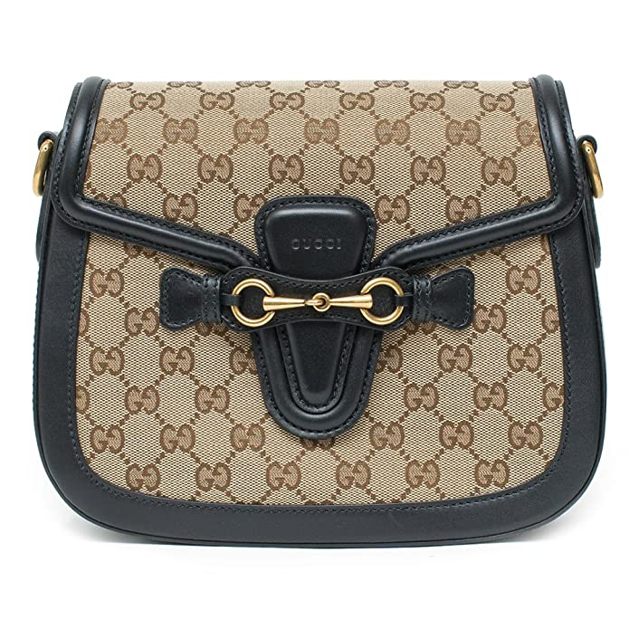 33ad15c4d Amazon.com: Gucci Lady Web GG Signature Authentic Black Leather Red Strap  Italy New Bag: Shoes