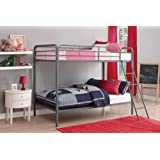 Amazon Price History for:DHP Twin Over Twin, Metal Bunk Bed - Silver