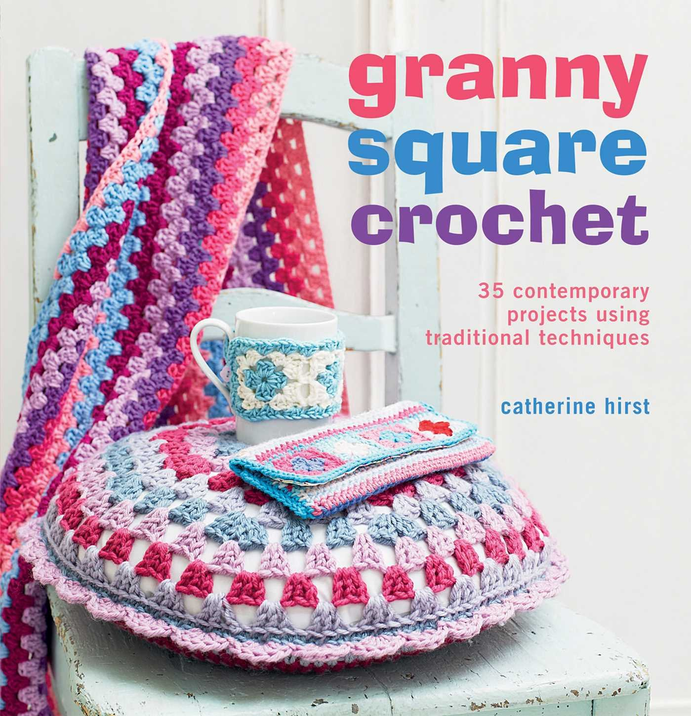 Free Crochet Paperback Book Cover Pattern ~ Granny square crochet contemporary projects using traditional