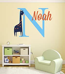 Pinkie Penguin Name Elephant Wall Decal Custom Baby Boy Nursery Decor Personalized Gift Vinyl Art 26 W x 18 H