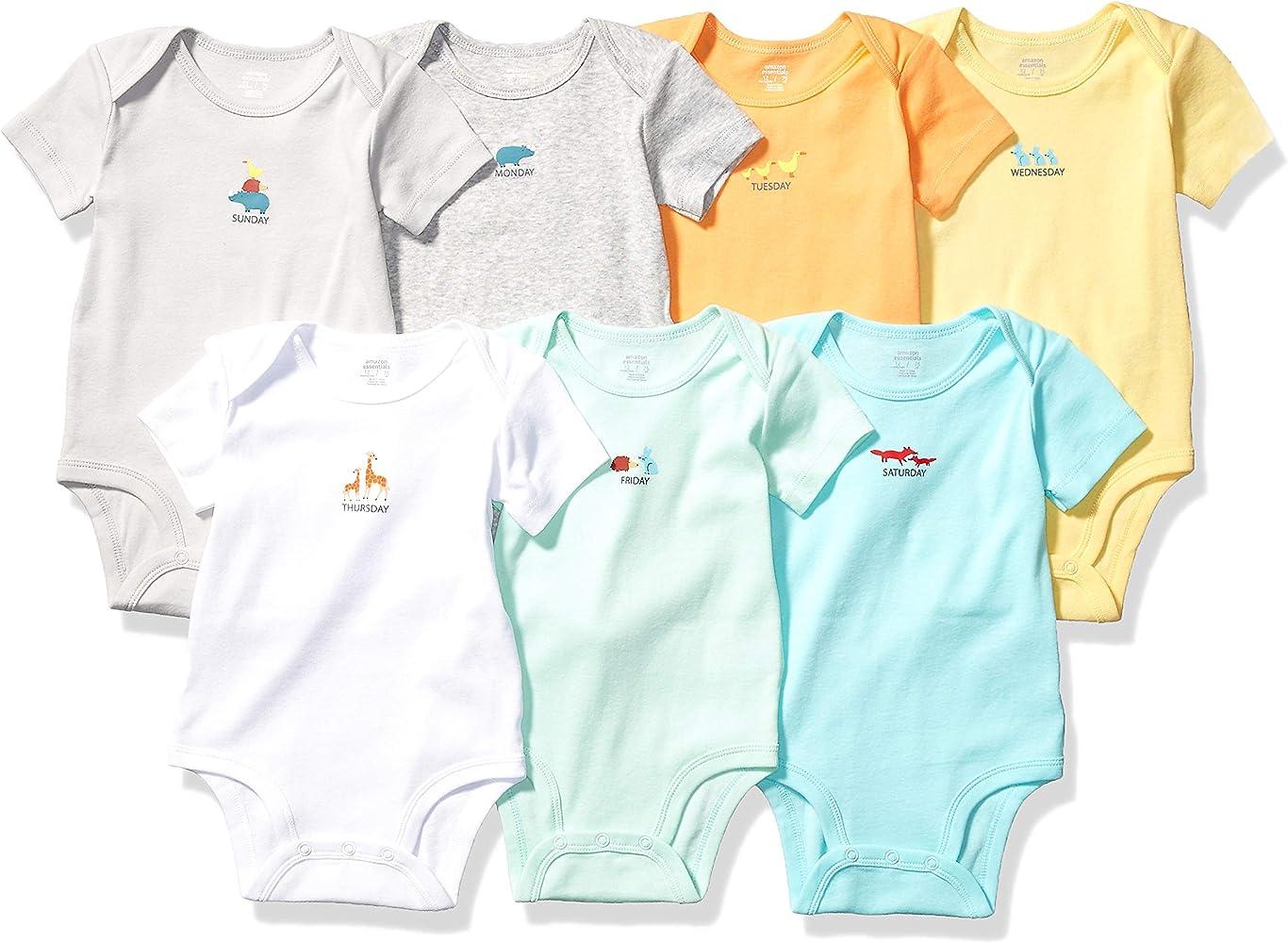 Essentials Baby 7-Pack Short-Sleeve Bodysuits