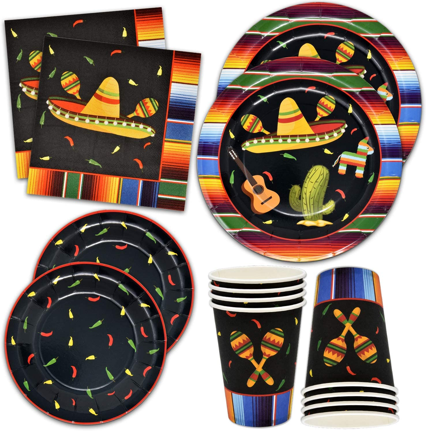 Amazon.com: Fiesta Plates and Napkins ...