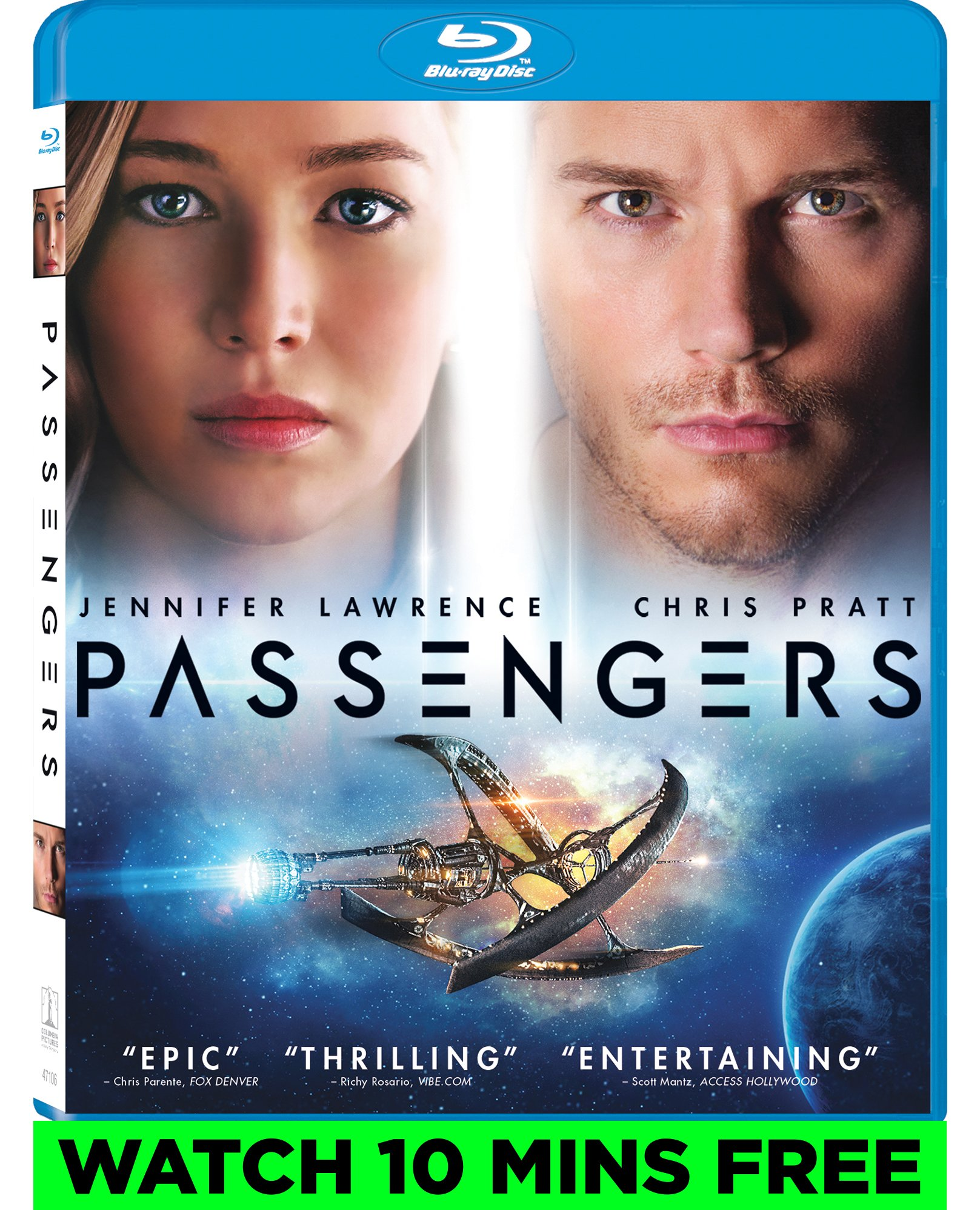 Blu-ray : Passengers (Ultraviolet Digital Copy, Dolby, AC-3, Widescreen, )