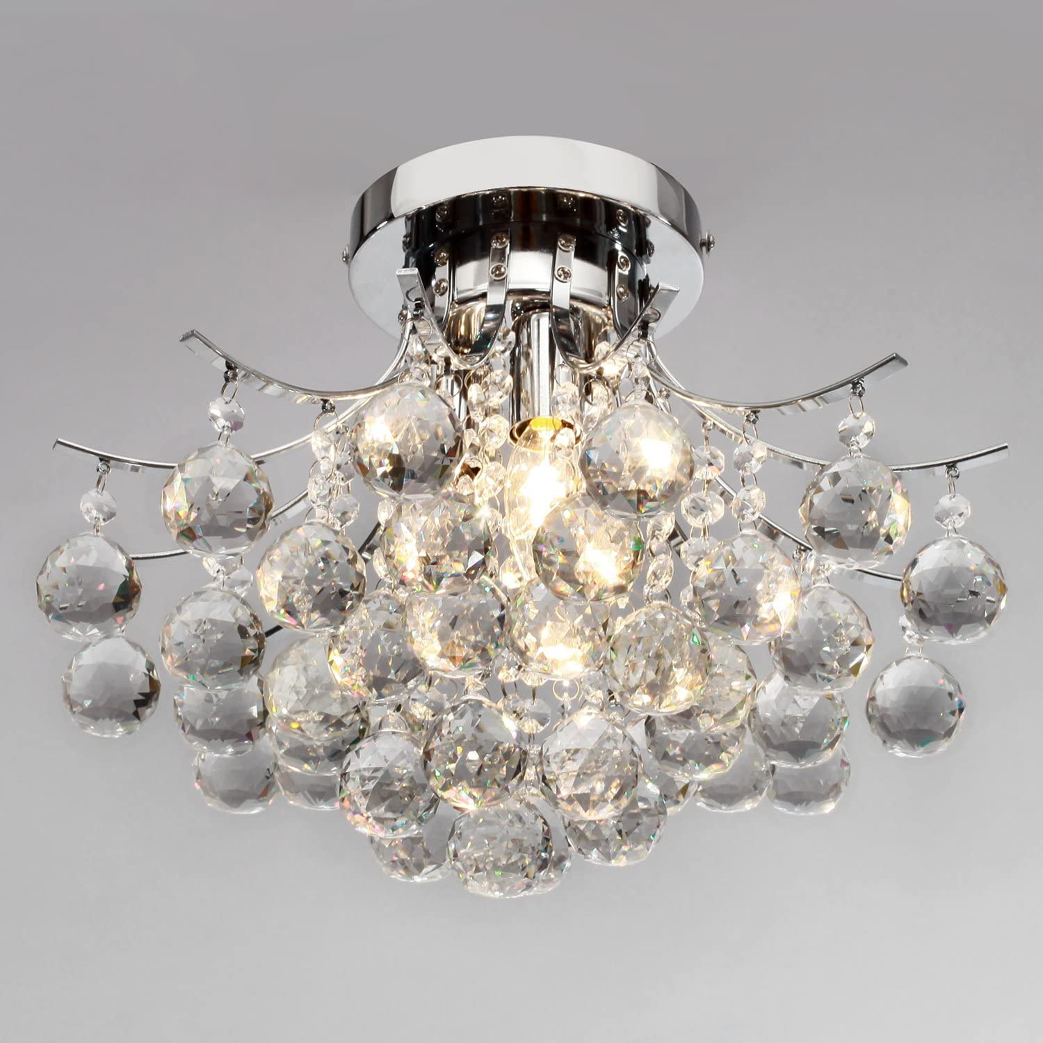 LightInTheBox 00218363 Chrome Finish Crystal Chandelier with 3 lights