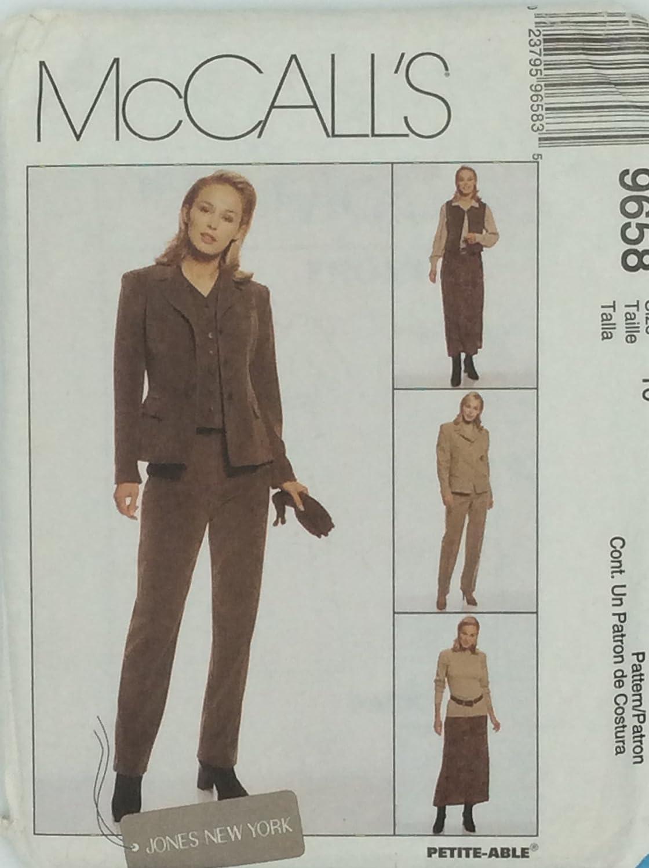 McCalls 8538 Misses Wardrobe Pattern Jacket Pants Size 18  Uncut Vest Skirt