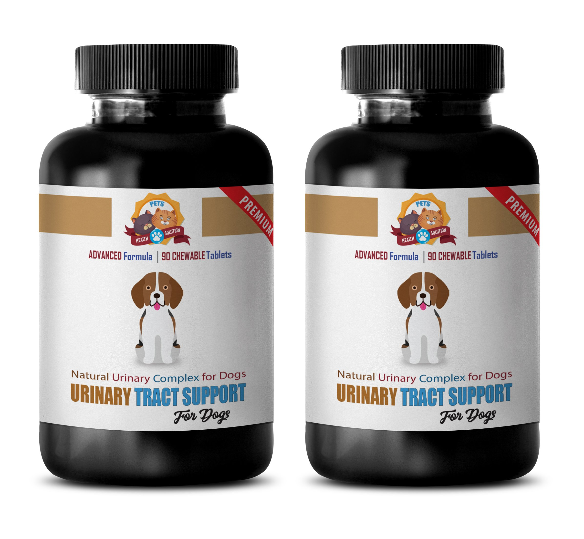 PETS HEALTH SOLUTION dog bladder support - NATURAL URINARY TRACT SUPPORT - DOG TREATS - PREMIUM ADVANCED COMPLEX - dog cranberry extract - 180 Treats (2 Bottle)