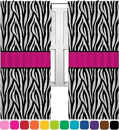 Zebra Print Curtains   20u0026quot;x54u0026quot; Panels   Lined (2 Panels Per Set