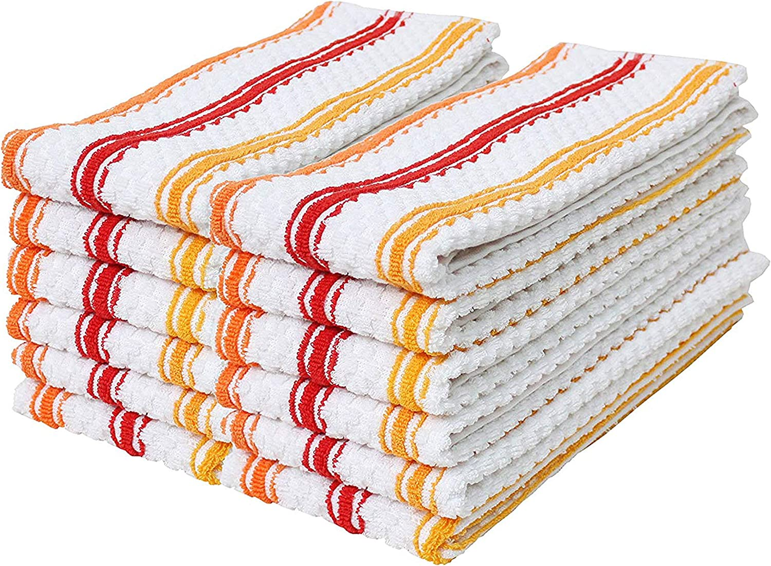 60 new white bleach safe cleaning kitchen dish towels large 15x25 absorbent