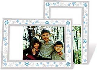 product image for Snowflakes - 4x6 Photo Insert Note Cards - 24 Pack by Plymouth Cards