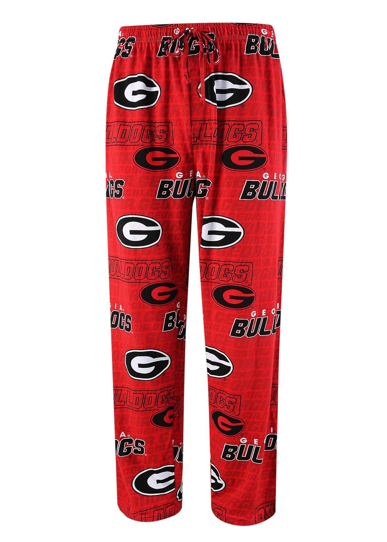 Sideline Apparel University of Georgia Bulldogs Pajama Bottoms Sleep Lounge Pants (Small) by Sideline Apparel (Image #1)