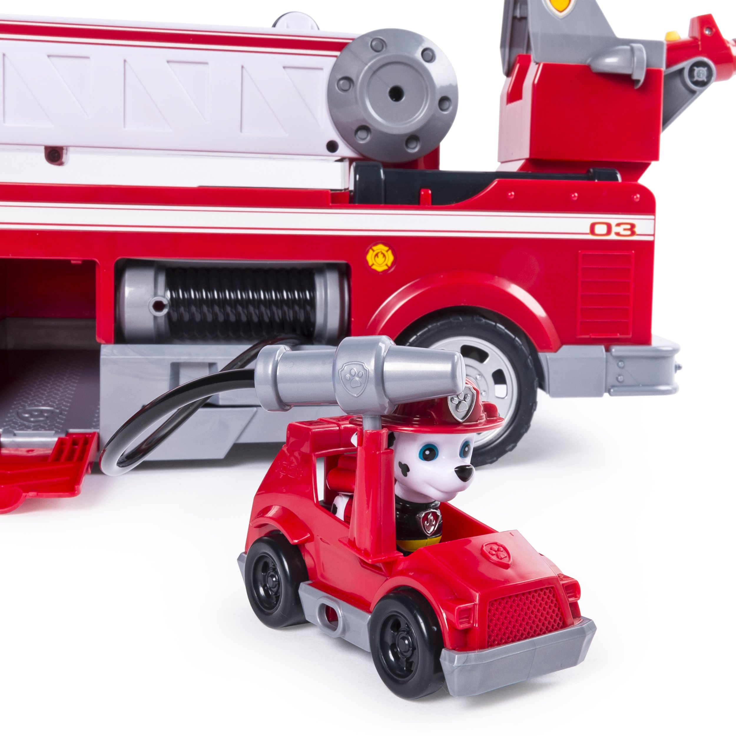 PAW Patrol - Ultimate Rescue Fire Truck with Extendable 2 ft. Tall Ladder, for Ages 3 and Up by Paw Patrol (Image #7)